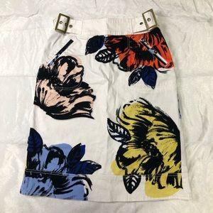 Maeve Anthropologie Floral Skirt